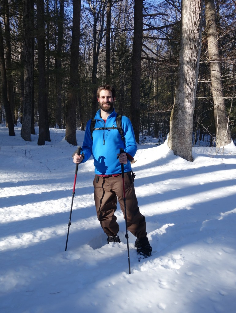 Chris in snowshoes
