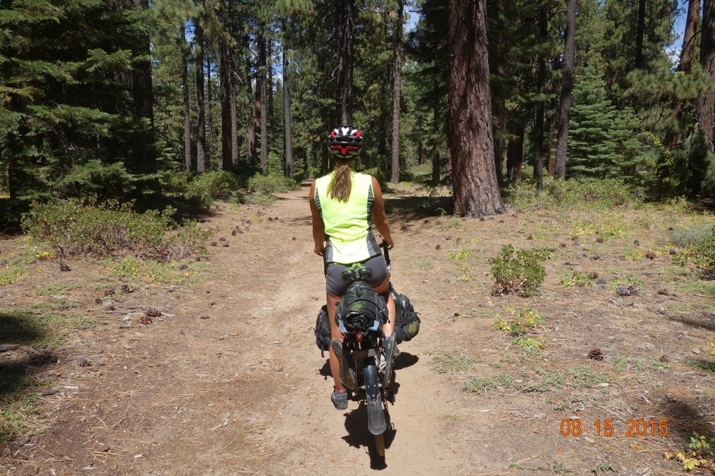"""We had fun """"off-roading"""" on our way to the house in South Lake Tahoe. +1 for Google Maps cycling feature"""